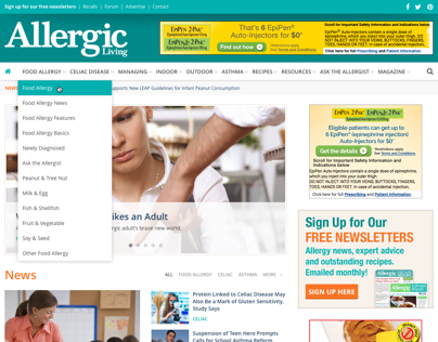 Allergic Living - Website Design