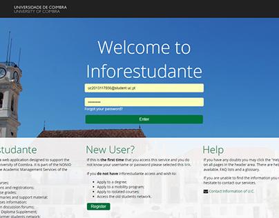 NONIO InforEstudante UI/UX Redesign