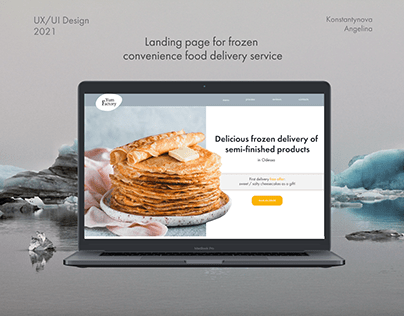 Landing Page for frozen food delivery service