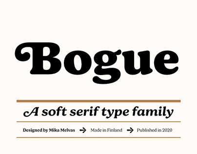 Bogue typeface