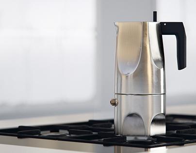 Ossidiana Espresso Coffee Maker by Alessi