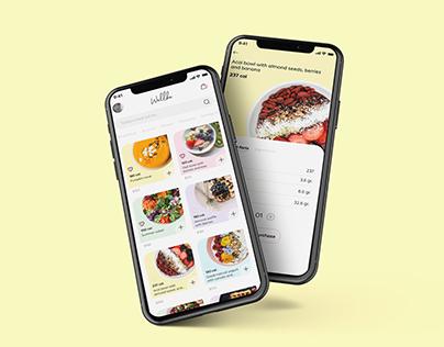 UI | UX Prototype - Wellbe Healthy food delivery
