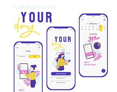 Your Day, app for planning, concept