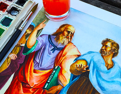 I Love Watercolor - The School of Athens