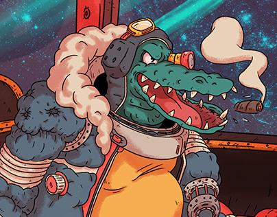 Space Pirate Captain Croco