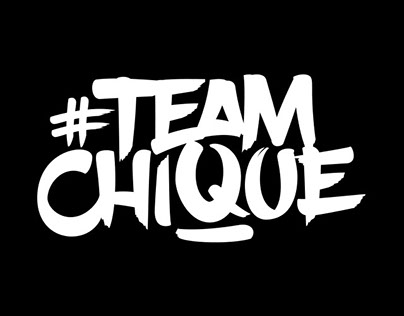 #TeamChique logo and artwork