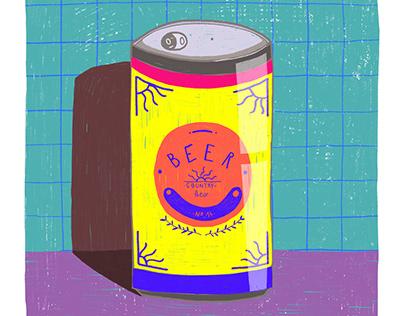 Beer for Everyone Illustration   Poster Design