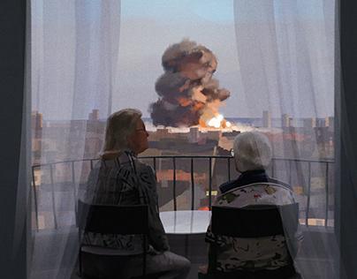 Beirut Breeze | Narrative Digital Painting