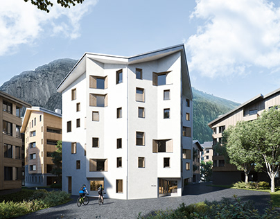 3D visualization of The Frame apartments in Andermatt