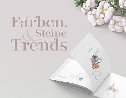 Farben, Steine & Trends [Jewelry Brochure Design]