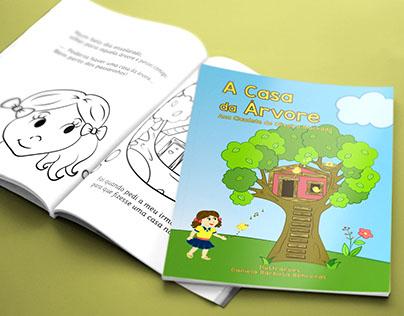 A Casa da Árvore - Livro para colorir