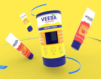 Veeba Twister Tubes - Packaging Design