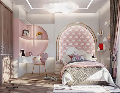 Girl's bedroom 360°