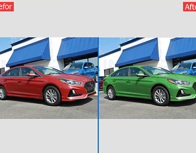 Professional car image Color & retouching