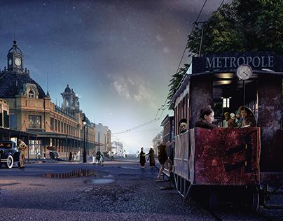 Hanoi's tramway 19th - 20th century viz exhibition