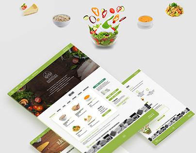 Web design for food service.