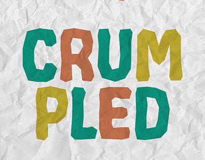 CRUMPLED - Free typeface
