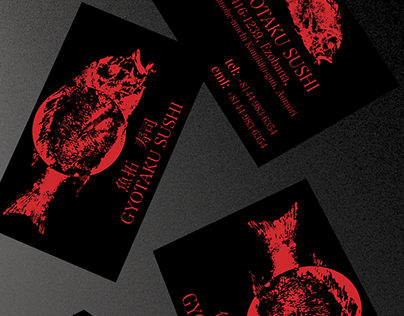 Gyotaku Sushi Business Card - Sharpen.design Submission
