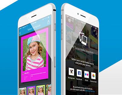 HP Social Media Snapshots Mobile App