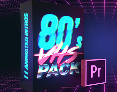 80s VHS Logo Title Intro Pack, After effects Templates on