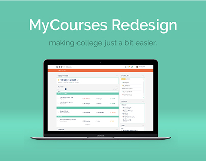 MyCourses Redesign | Web & UX Design