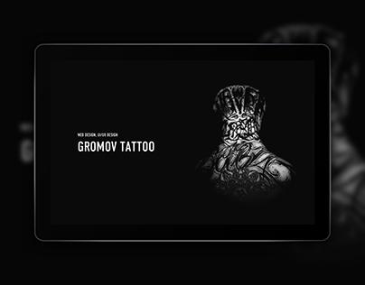 Gromov tattoo. UX/UI Design, Web design