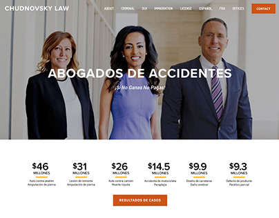 Spanish Language Website: Abogados de Accidentes