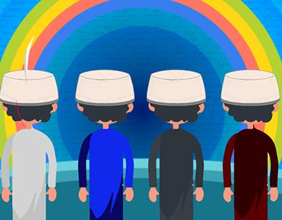 Bari Eid BAchon ke sath Title For eid PAckaging