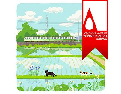 Tabineko Illustration won the A'DESIGN AWARDS 2020.