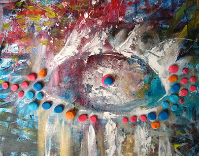 Hope Amidst the Tears: A Non-representational Painting