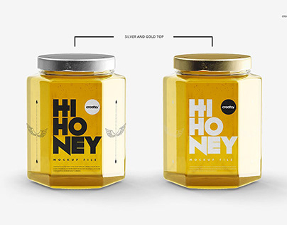 Honey Jar Mockup Set