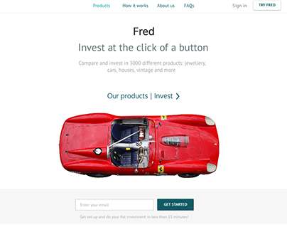 FRED. Concept site for investment /// Wireframes