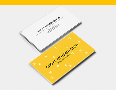 Business card for Scott Etherington.