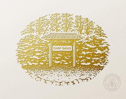 Camp David Presidential Retreat Illustration