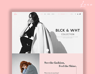 Luna - Fashion E-Commerce Website