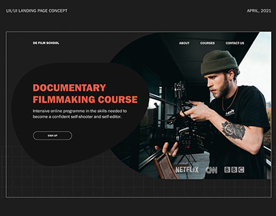 Documentary filmmaking course | landing page