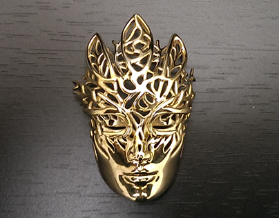 Dreamer Mask: Emergence pendant (3D printed)
