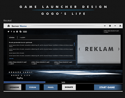 Game Launcher Design (Minimal)