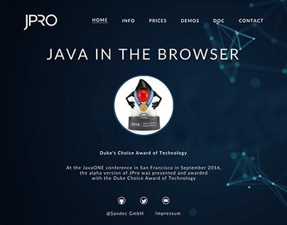 JPro Landing Page Design