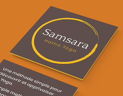 Samsara Hatha Yoga - Conception de logo