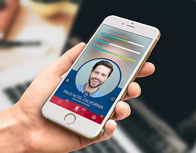 Dating App UI Design, selection of screens.