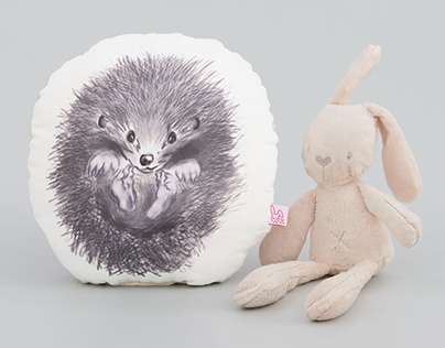 Design of the pillow for children.