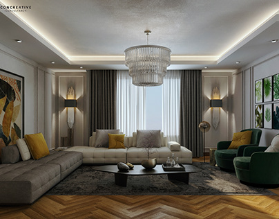 Neo classical apartment's reception