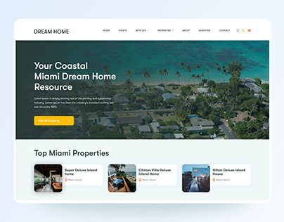Property Listing Home Page UI Design