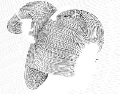 Japanese hairdo