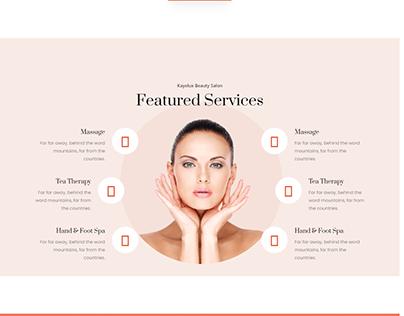 Skin Care - Html Lading page Design