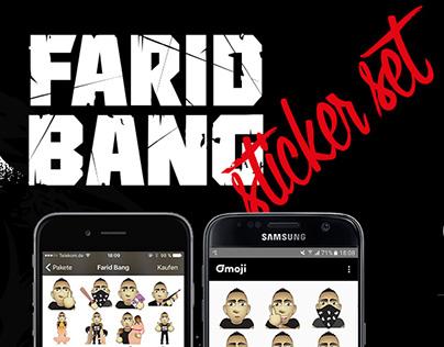 Mobile Sticker Set for German Rap Artist Farid Bang
