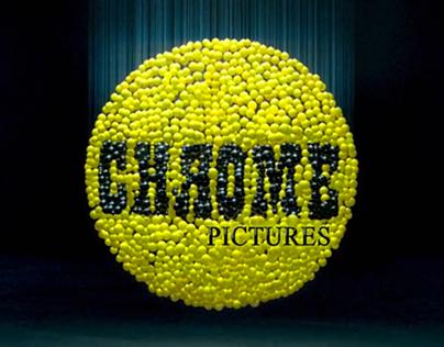 Anamorphic Art Logo Title Design CHROME Pictures