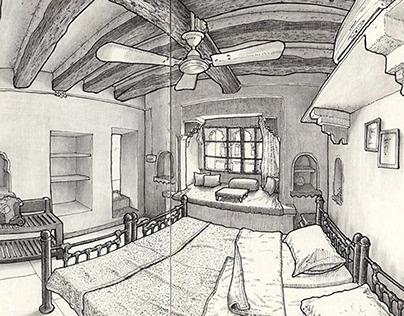 Sketching hotel rooms IV