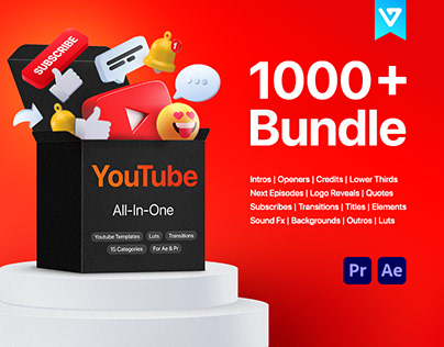 YouTube Bundle   After Effects, Premiere Pro template